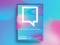 Socialbakers Engage Poster Design