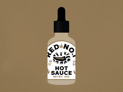 Hot Sauce Label branding logo vector typography charleston dropper pepper illustration illustrationmock mock label badge hotsauce