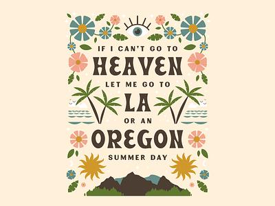 Heaven flat design lyrics type