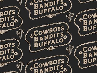 C & B & B wild west rugged illustration wordmark