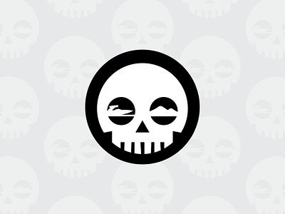 Watersport Skull clean geometric branding logo