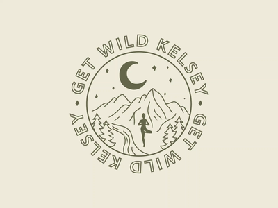 Get Wild Kelsey Yoga Retreats nature yoga retreat mountains boho merch design merchandise yoga