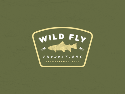 Wild Fly Productions Spring Merch Badge youtube fishing outdoor merch merchandise graphic design