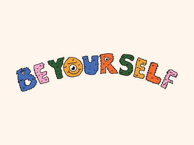 Be Yourself apparel illustrations. fresco illustration merch apparel smile design