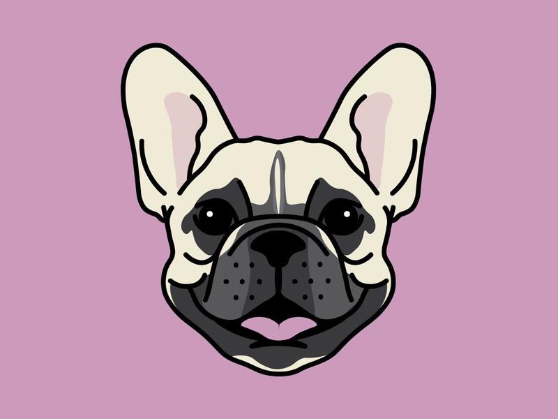 Babe, the Frenchie. nashville hat patch badge pink frenchie dog french bulldog