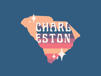 Charleston, South Carolina logo inspiration colorpalette shapes design sparkle stars marsh lowcountry state home southcarolina charlestonsc charleston