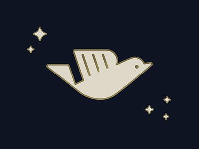 Dove logomark. design vintage gold logo wordmark dove