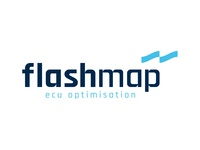 FlashMap Logo car flag line brand icon logo