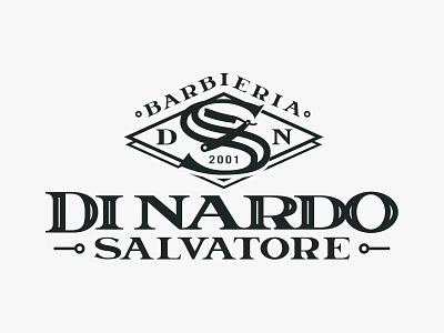Barbieria Di Nardo Salvatore logotypes logodesign logo shave monocolor black vintage old school logotype letter heritage beard