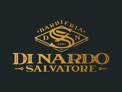 Barbieria Di Nardo Salvatore logodesign logo shave monocolor black vintage old school logotype letter heritage beard