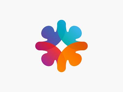 Puzzles colours circle crowdfunding puzzle branding brand identity logo texture