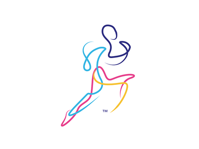 weRunn dynamic logo man swift sport line art faster draw trip draw runner run vector design illustration colours corporate brand identity brand branding icon logo