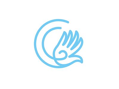 Carpalello line pharmaceutical spiral hand letter c brand identity brand branding icon logo