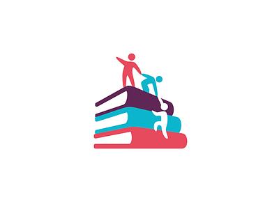 Climbook scale save help funny book brand identity brand branding icon logo