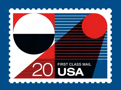 "Save the USPS - ""Gloom of Night"" screenprint night moon stamp stamps usps post office color poster illustration vintage"