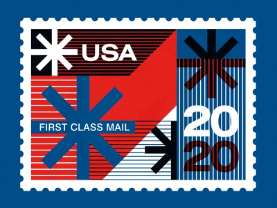 """Save the USPS - """"Neither Snow..."""" typography swiss design post office mail stamps stamp snow color usps poster illustration"""