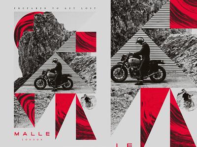 Unused artwork Malle London branding color art collage texture vintage