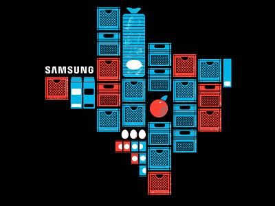 Samsung of Texas vector spot illustration food drawing illustrations texture illustration vintage