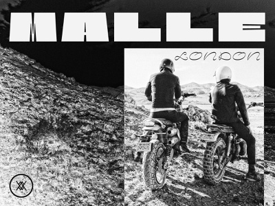 Malle London icons identity branding brand collage luggage motorcycle motorcross london poster texture vintage