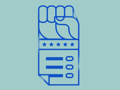 Your Vote is Power iconography hand fist power voting vote icon texture illustration