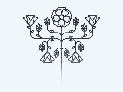 Flower flower texture illustration