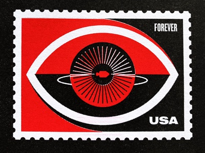 Space Stamps Riso Print eye riso vector space illustration texture branding nasa