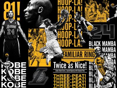Kobe Bryant Hall of Fame Exhibit collage lakers kobe bryant nba basketball branding exhibit kobe