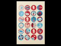 Apollo 11 Badges Poster