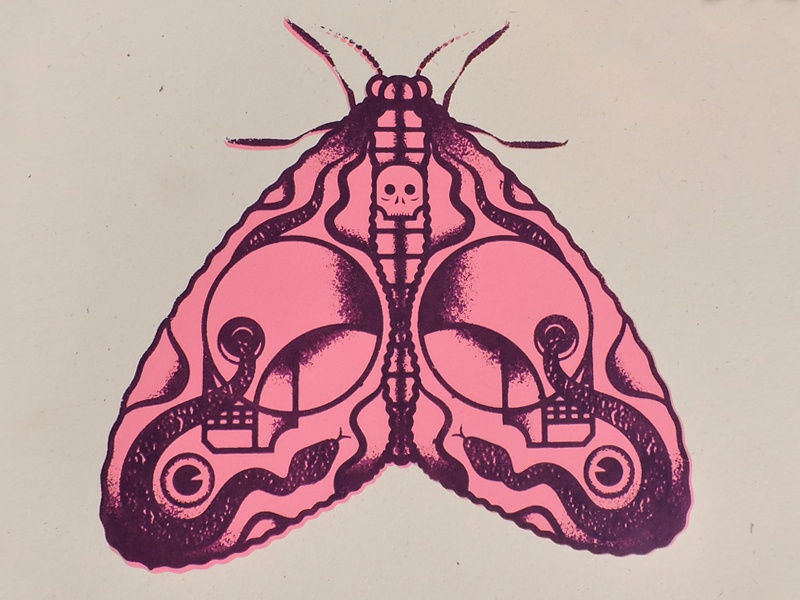 Death Moth Screen Print