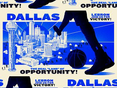 ESPN LeBron James - Killed art dallas espn illustration lbj lebron nba