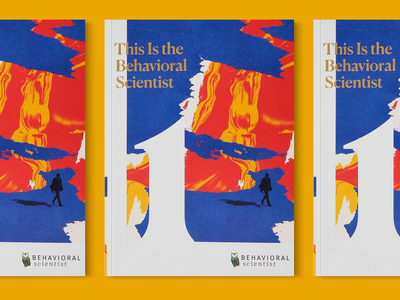 Behavioral Scientist Magazine cover typogaphy texture magazine design magazine cover foil color abstract colors abstract collage magazine
