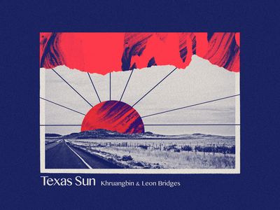 Texas Sun vintage vector color texture khruangbin leon bridges music sun texas