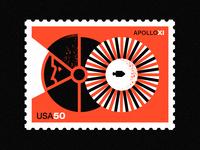 Apollo XI - 50th Anniversary- Stamp 7
