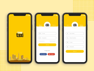 Town Taxi Mobile App