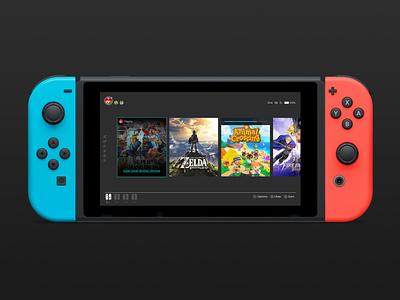 Nintendo Switch Home screen ui redesign nintendo switch nintendo switch redesign ui