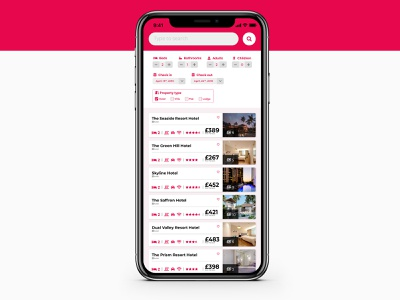 Daily UI - Day 22: Search hotel search 022 ui dailyui