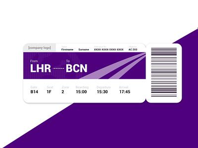 Daily UI - Day 24: Boarding Pass boardingpass 024 ui dailyui