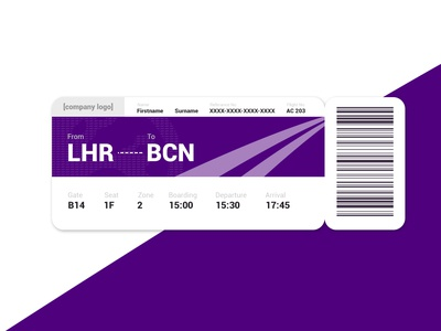 Daily UI - Day 24: Boarding Pass