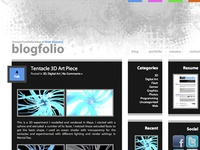 Simple Portfolio/Blog Wordpress Template