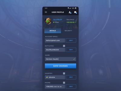 User Profile (Blizzard App)