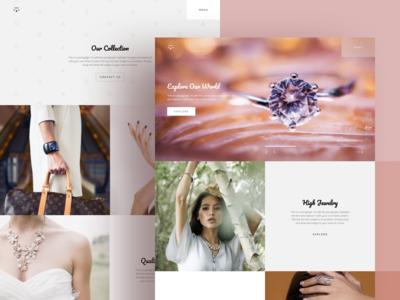 Jewelry Showroom Website Template