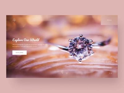 Jewelry Showroom Website Interactions