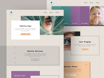 Optometry Clinic Website Template