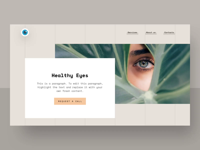 Optometry Clinic Website Interactions website web design ux design ux ui design ui template responsive optometry ophthalmology minimalism kids hero banner health care grid flat design eyes design clinic asymmetric
