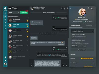 Dashboard OPA - Quero Bolsa visual design user interface querodesign techatquero whatsnew ux ui