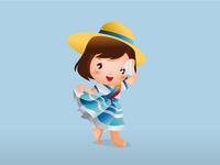 Dancer peruvian child