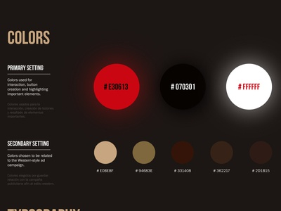 Western Landing page - Colors