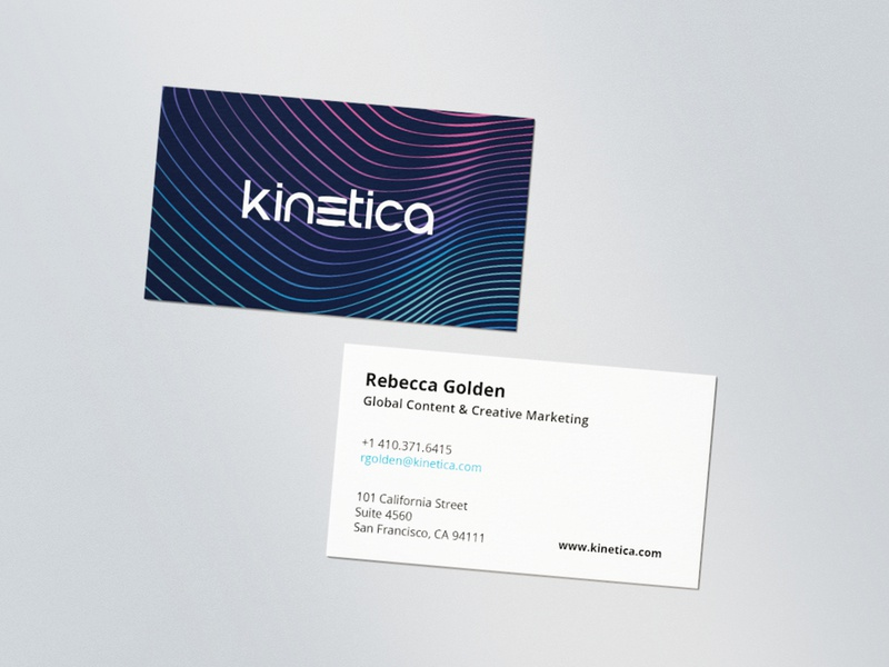 Kinetica Business Card Design Options
