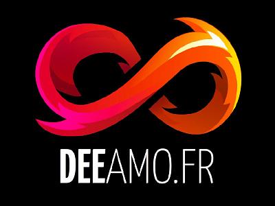 Logo Deeamo Dribbble illustrator infini vecto logo deeamo animate