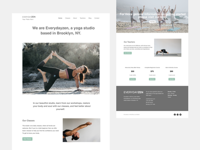 Yoga Website webdesign website yoga studio yoga homepage ux ui ui  ux design